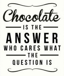 Chocolate is Always the Answer Post